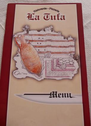 16.La Tufa menu