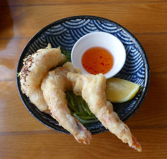 14.tempura prawns with sweet chilli
