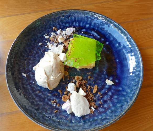 21.lemon & lime curd, tamarind chantilly, five spice coconut crumble, smashed raspberry meringue