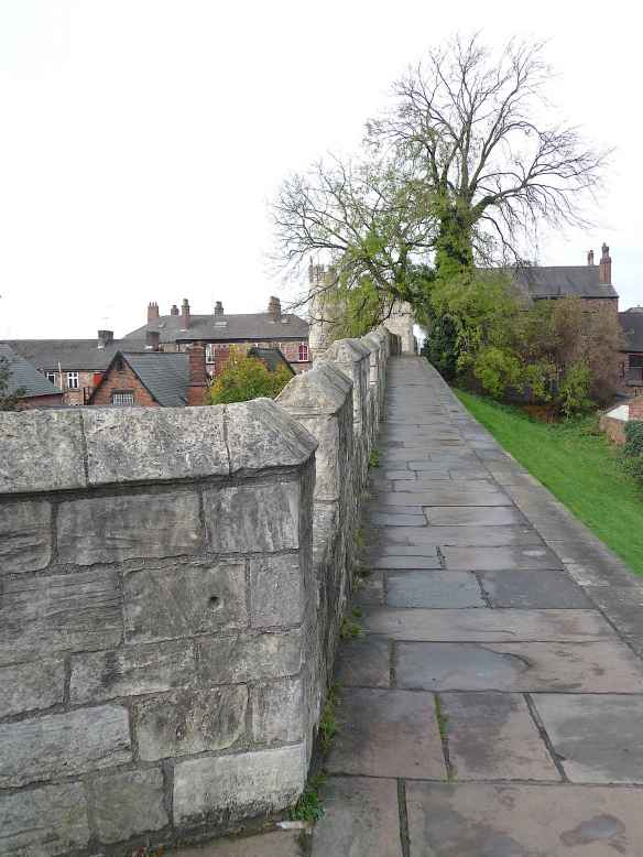 9.Town walls approaching Micklegate