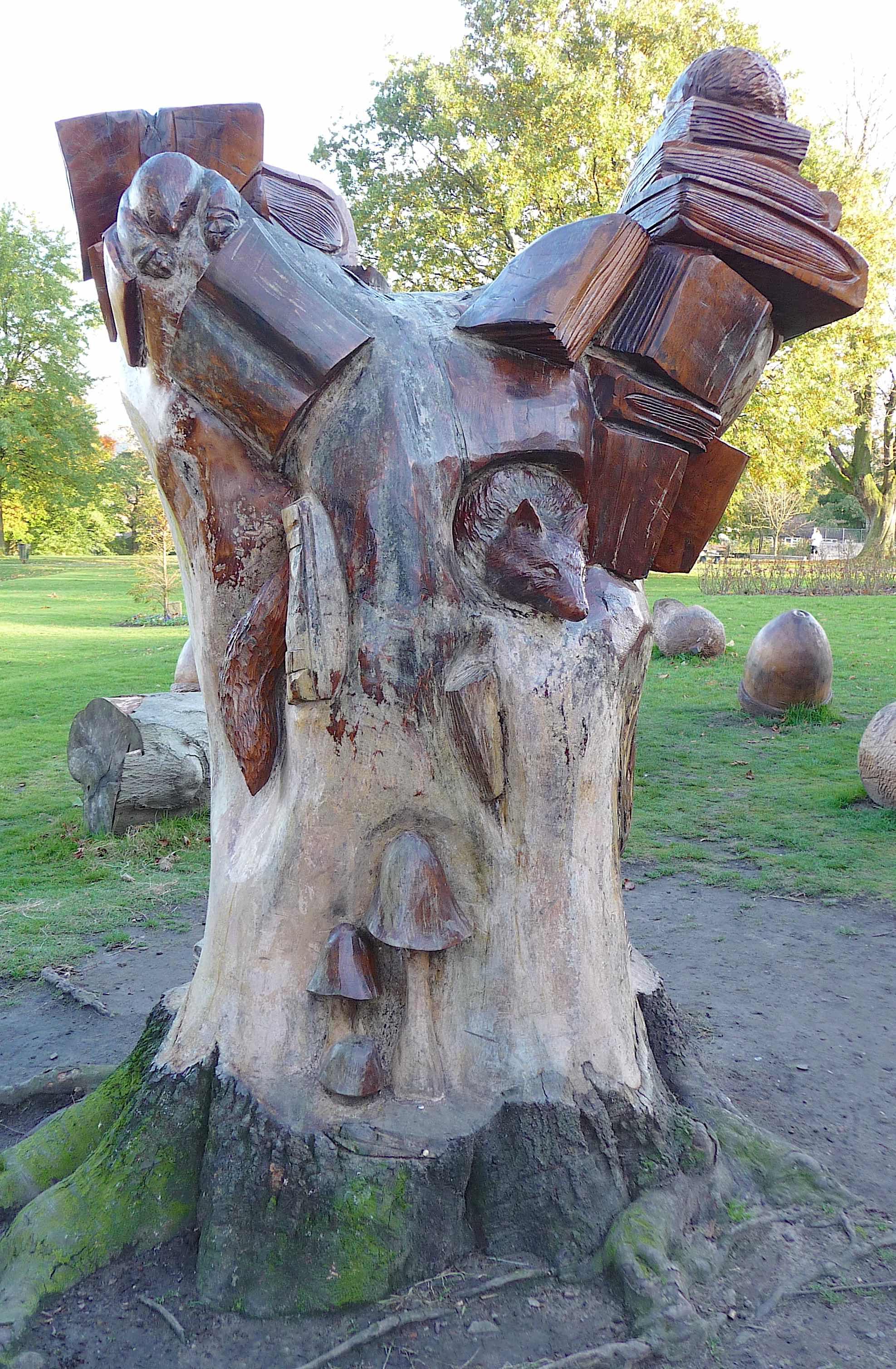 1.tree sculpture Memorial Prk