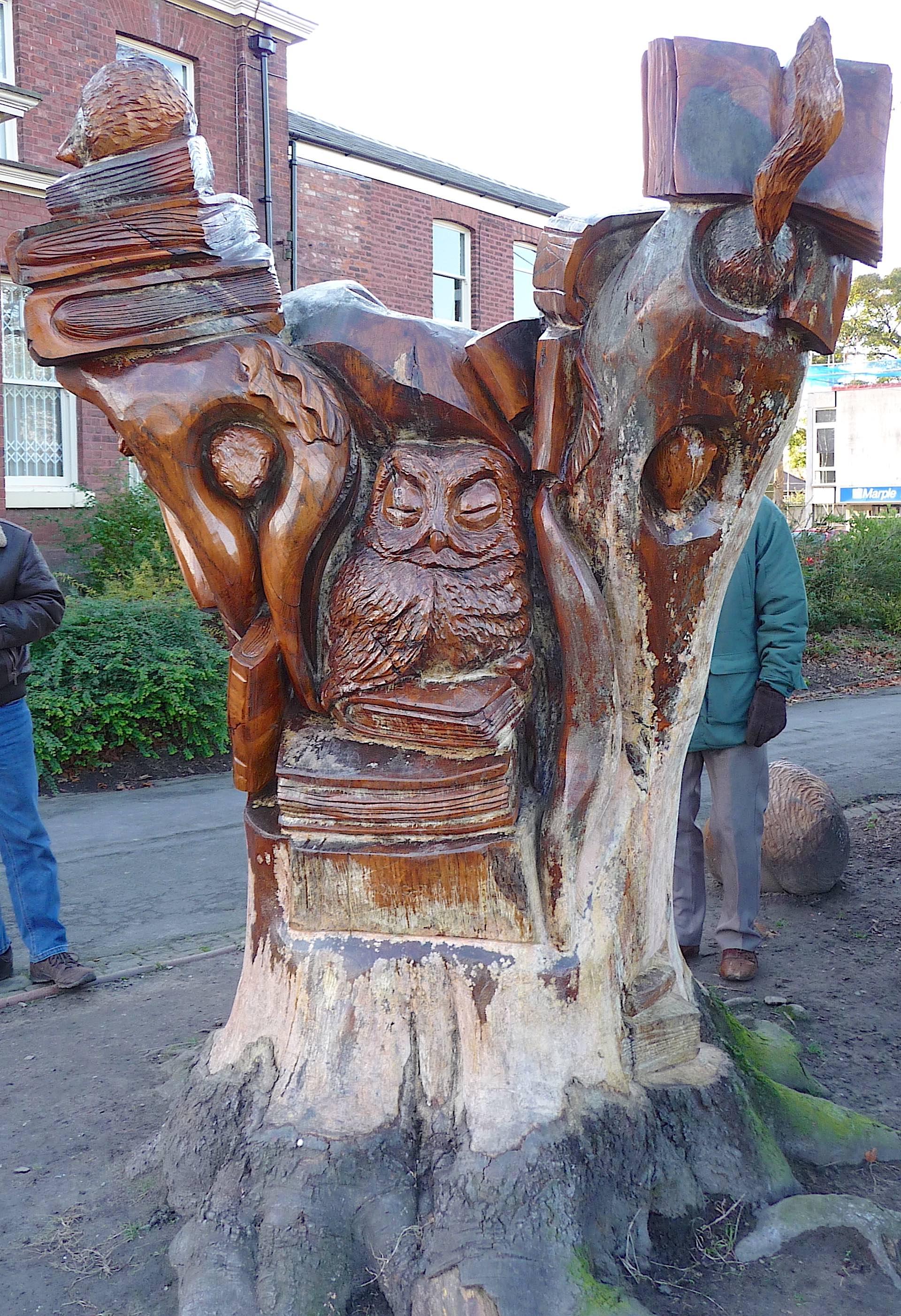 2.tree sculpture, Marple Memorial Park