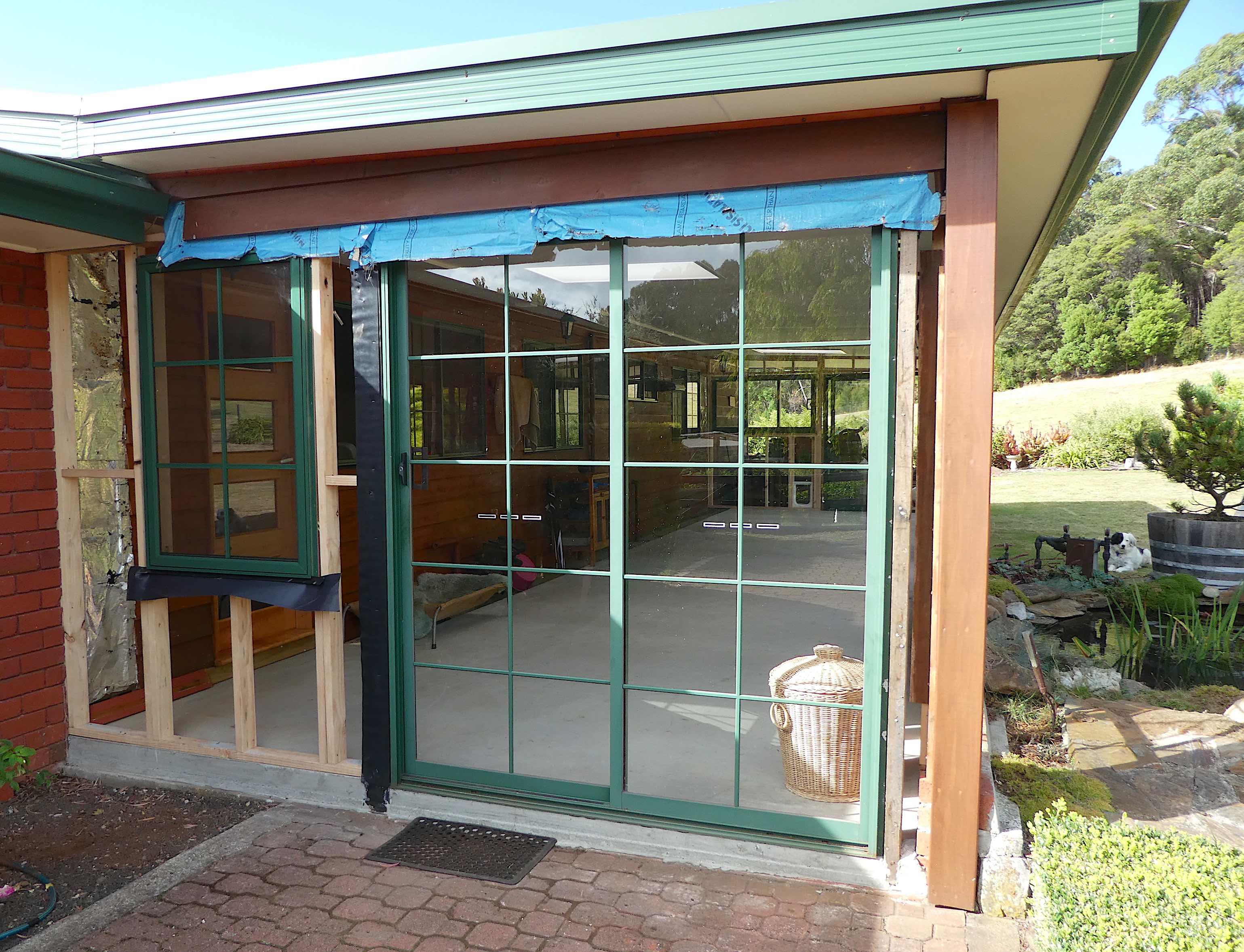 16.new window, old sliding door
