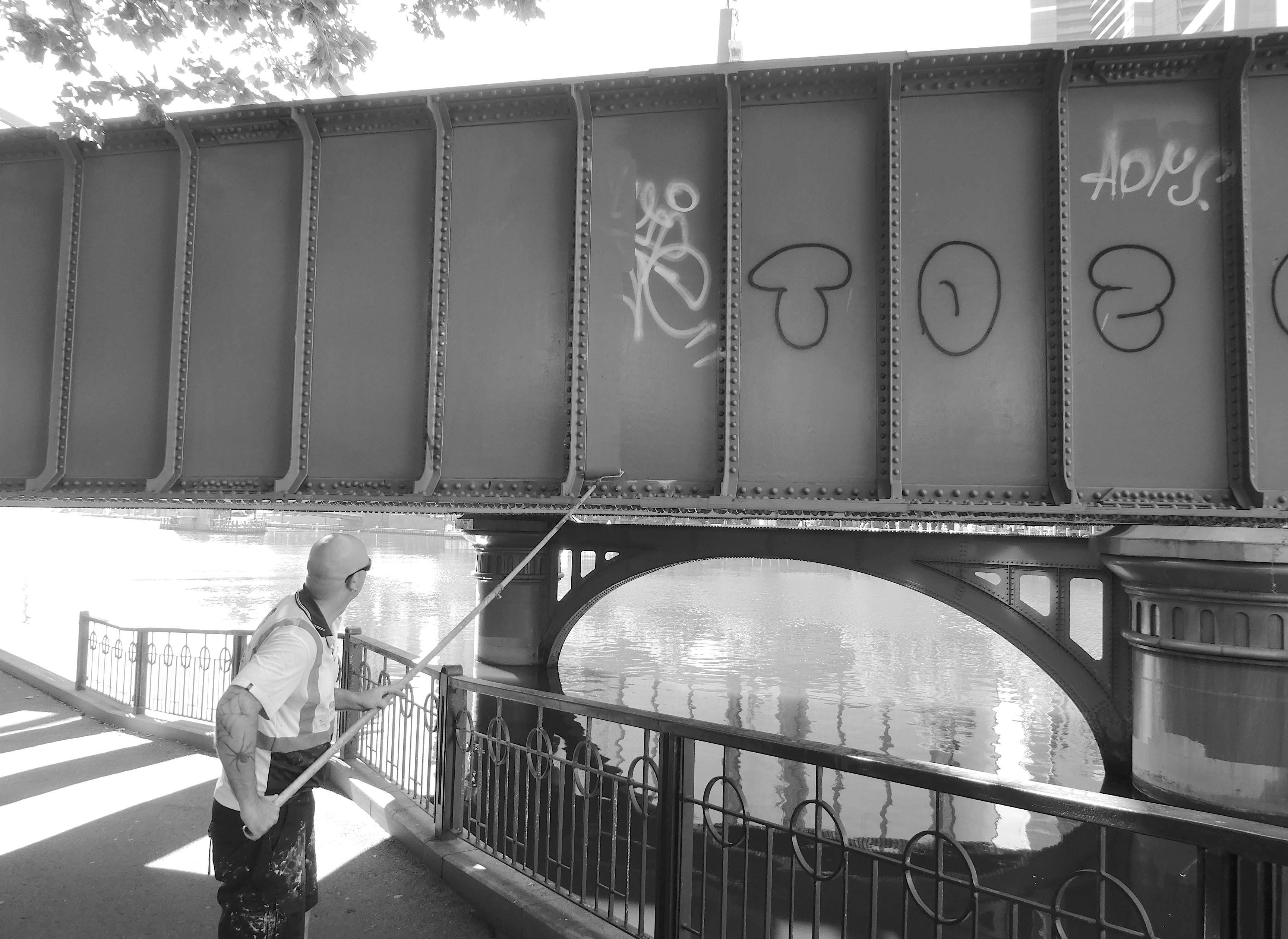 12.painting over graffiti