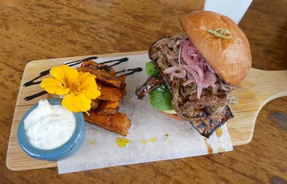39.Pulled lamb burger