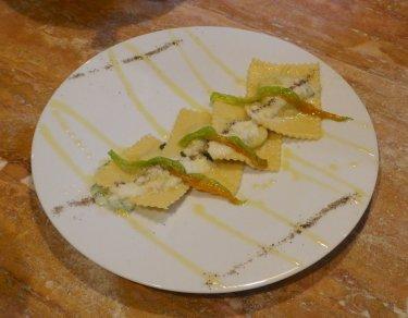 56.ricotta & spinach ravioli