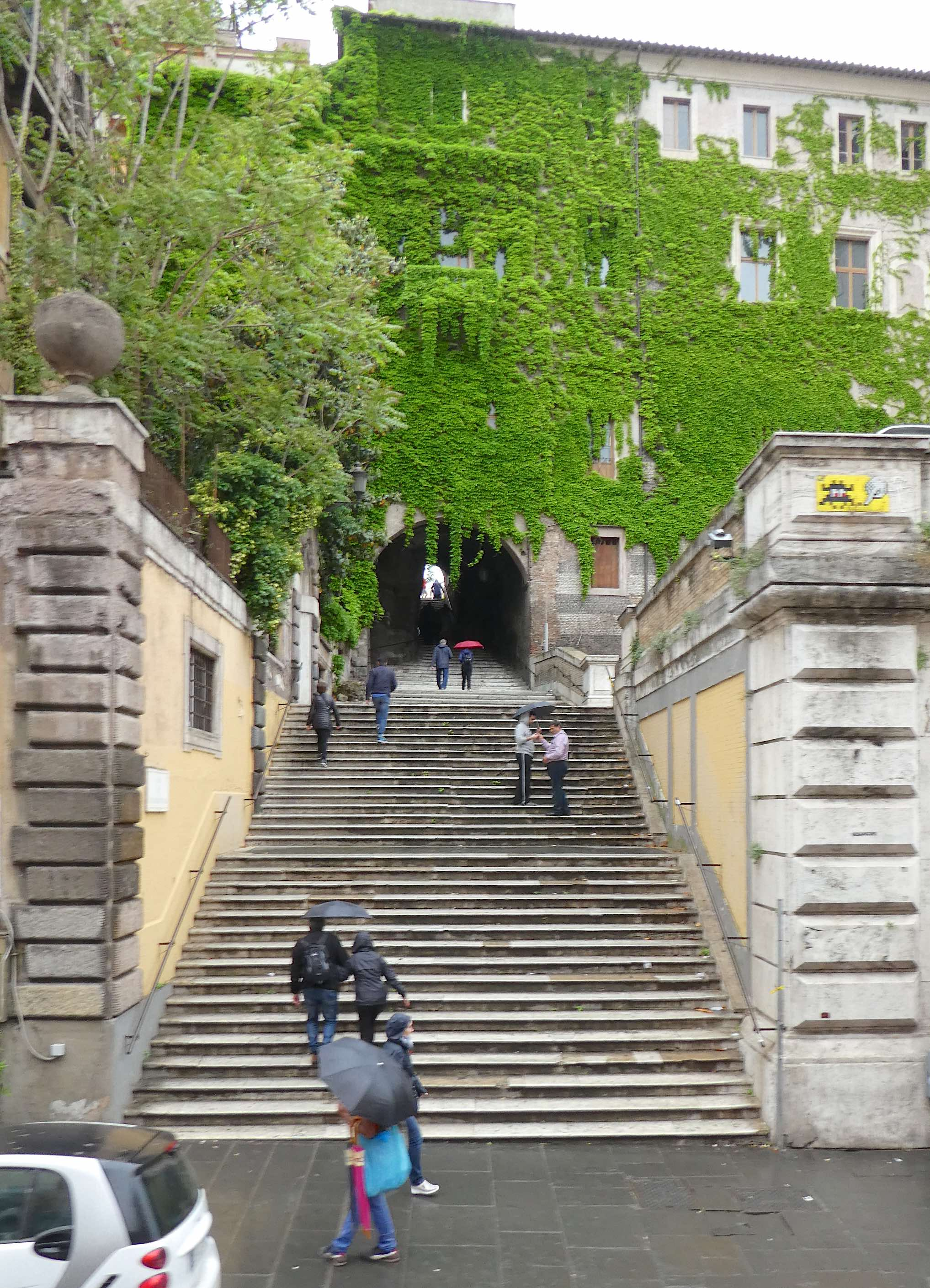 15.steps from via cavour to san pietro in vincoli