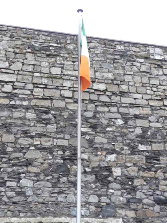 25.Irish tricolour between crosses in Stonebreakers' Yard