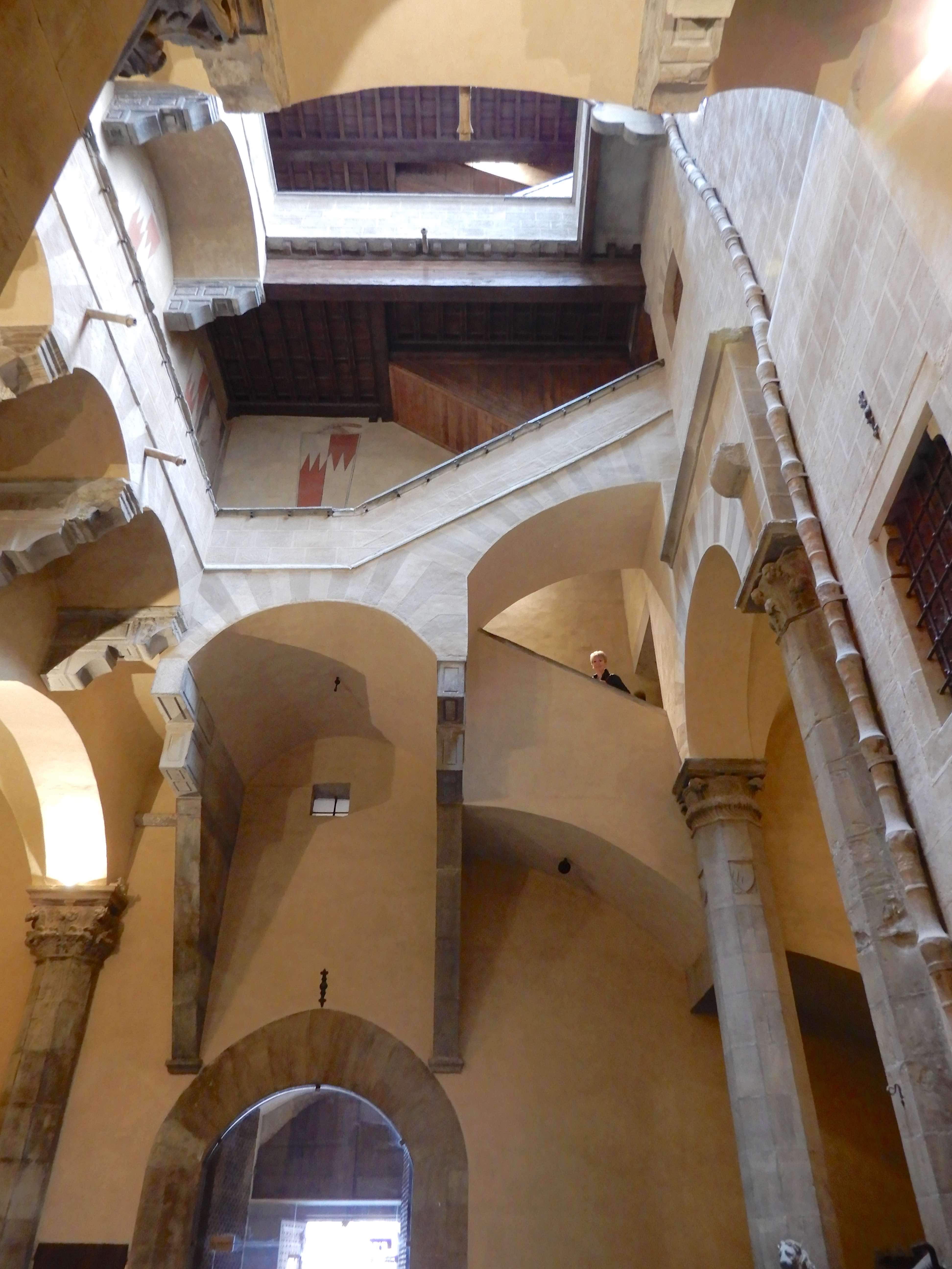 6.looking up from courtyard
