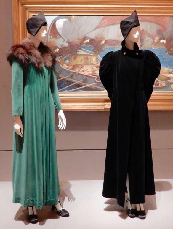16.(L-R)Schiaparelli, evening coat 1932; Lucien Lelong, coat 1935