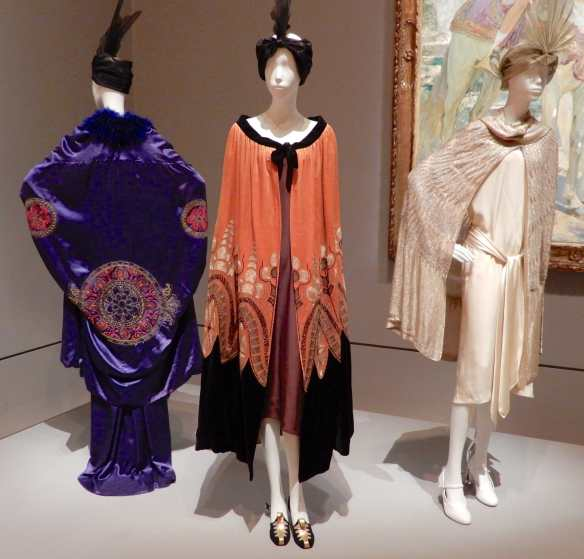 19.(L-R)France,evening coat 1920; France, evening cape 1925; Madeleine Vionnet, evening cape 1928