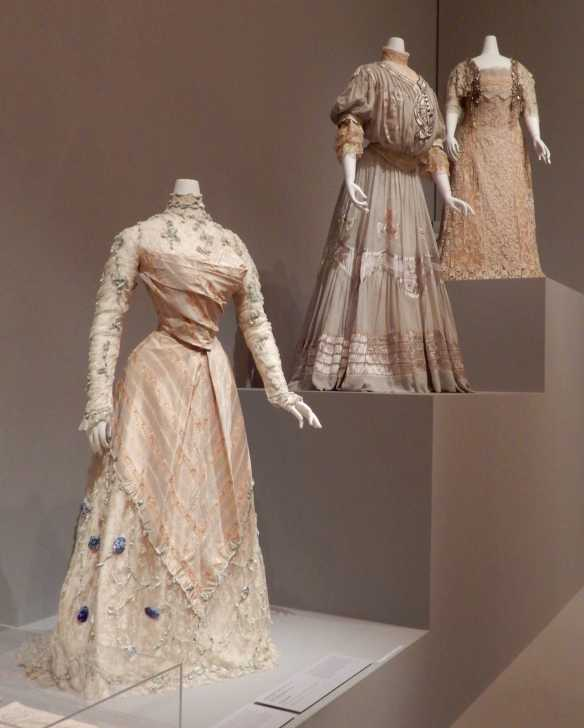 2.(L-R) Callot Souers, afternoon dress 1900; Callot Soeurs, afternoon dress 1905; Callot Soeurs, evening dress 1910
