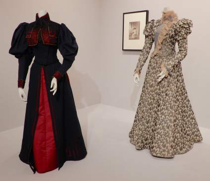 5.(L-R)Jean-Phillipe Worth, day dress 1895; the visiting dress 1897
