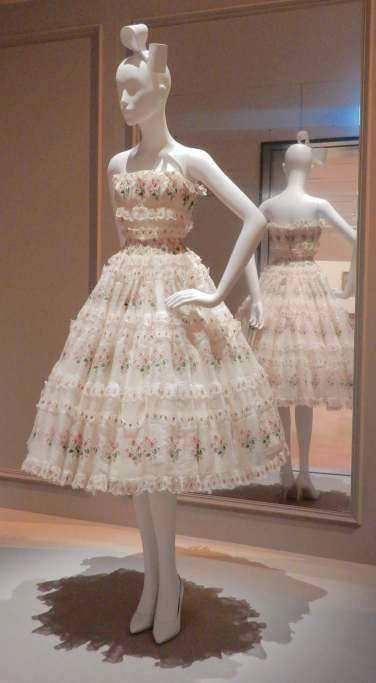 56.Christian Dior, Village party cocktail dress 1955