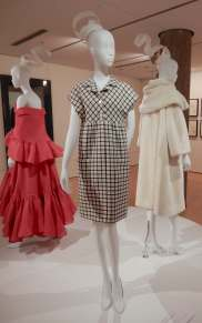 61.Balenciaga, dress 1968 (red one, evening gown & wrap 1963)