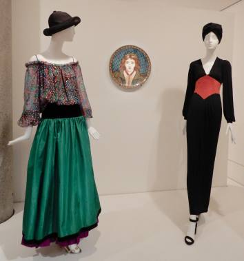 66.Yves Saint Laurent, (L-R) ensemble 'Opéras' 1976; dress 1971