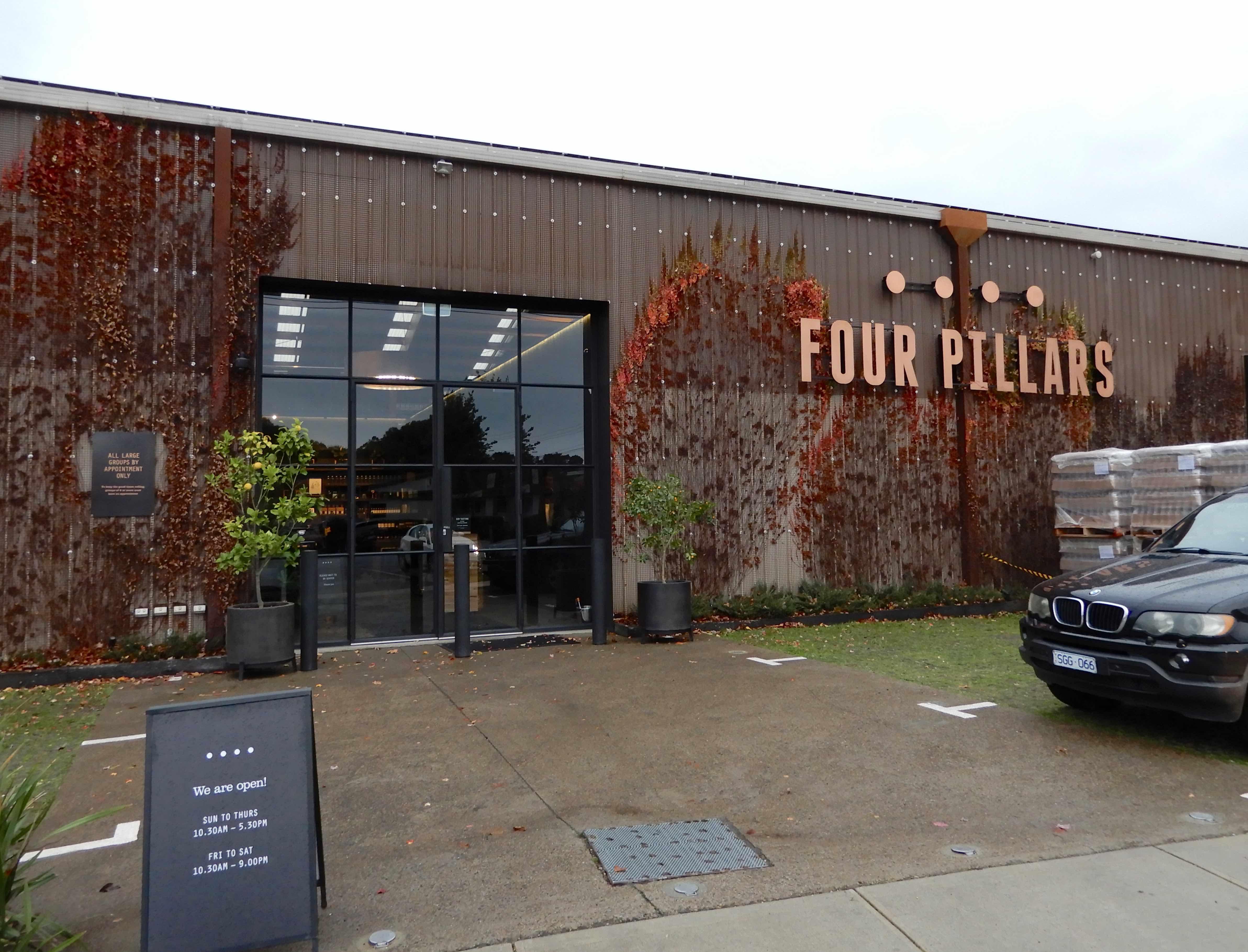2.Four Pillars distillery door