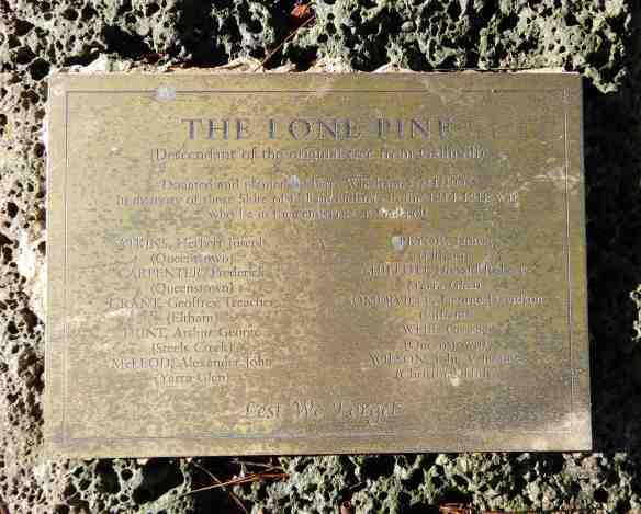 9.lone pine plaque