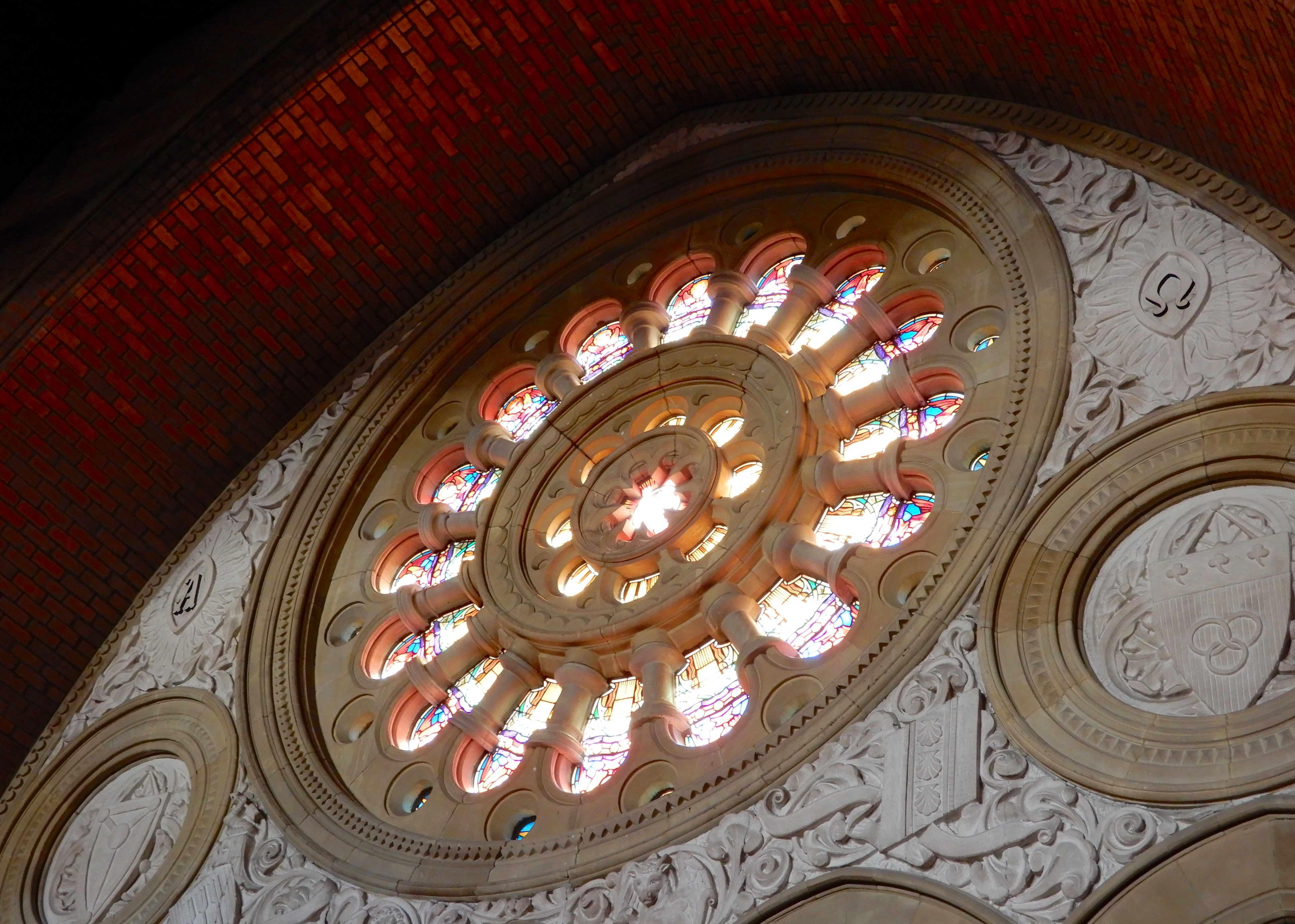27.rose window from organ loft