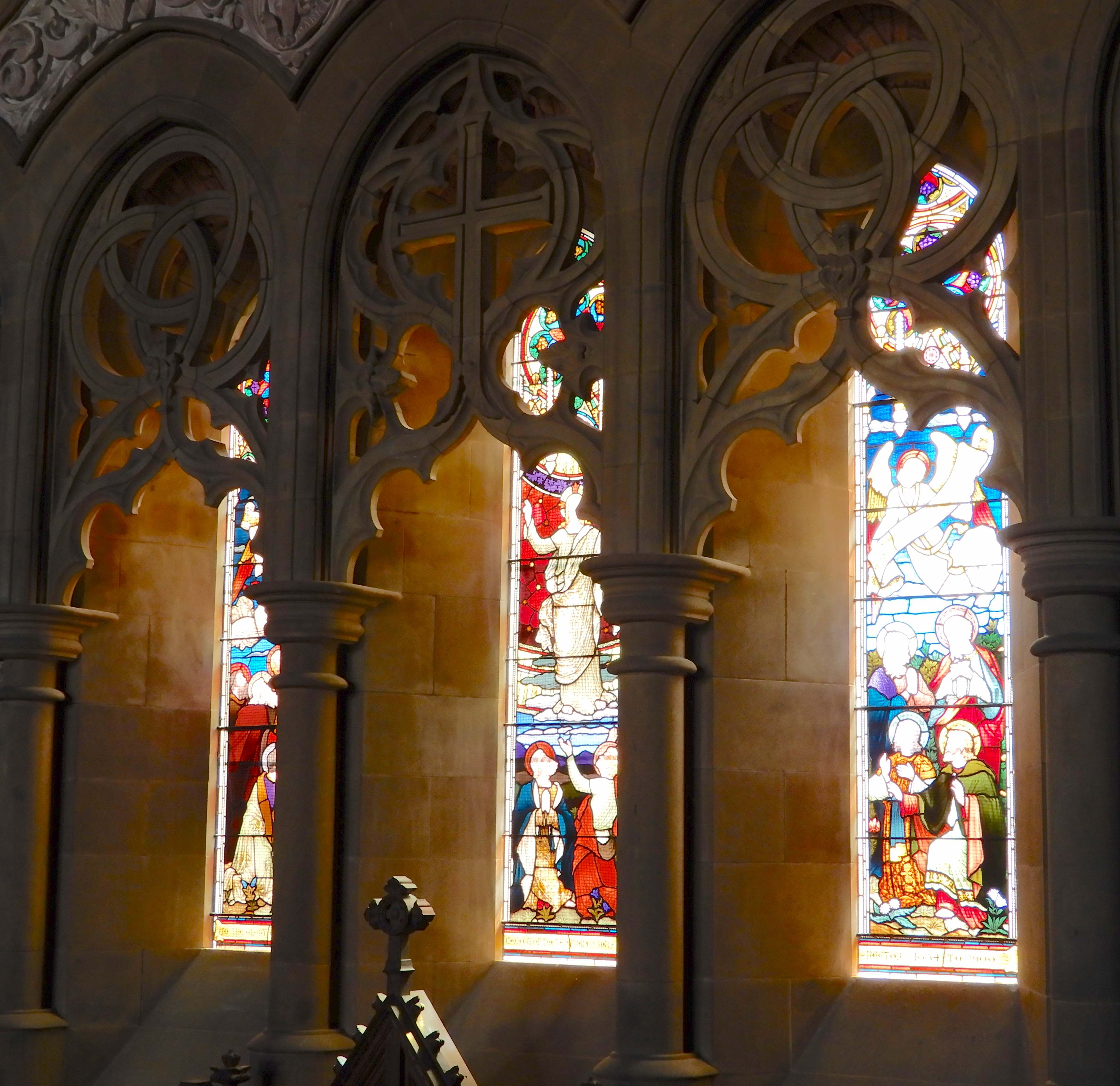 28.stained glass window from organ loft
