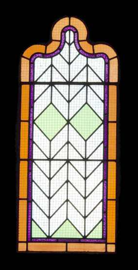 35.north wall stained glass